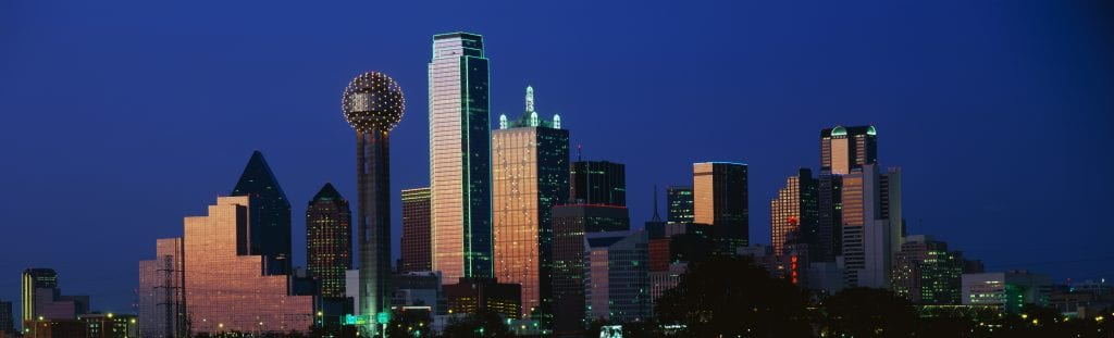 Downtown Dallas at Dusk
